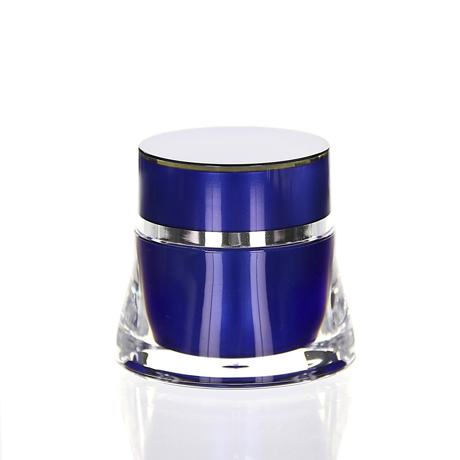 Jet 15ml Blue Jars Acrylic Stock Goods Pot Cream Kosmetik More Views